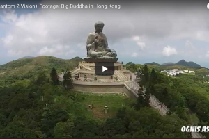 DJI Phantom 2 Vision+ Footage: Big Buddha in Hong Kong