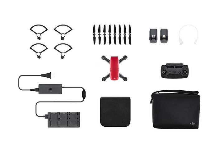 Квадрокоптер DJI SPARK Fly More Combo Lava Red (Refurbished)